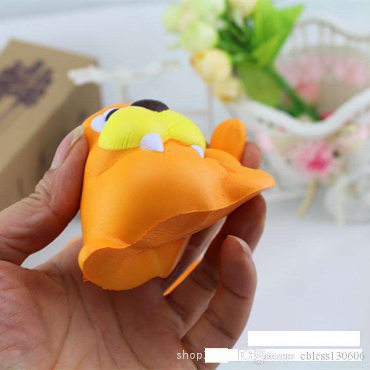 Squishy piccolo leone marino Kawai simula la torta di pane impasta regali giocattolo bambini appesi lentamente si alzano