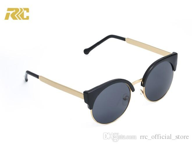 RRC New Arrival 2018 Brand Sunglasses For Men Women White Buffalo Horn  Glasses Rimless Designer Italy Sunglasses Hut Oculos De Sol Masculino Cheap  ... f196c180bb