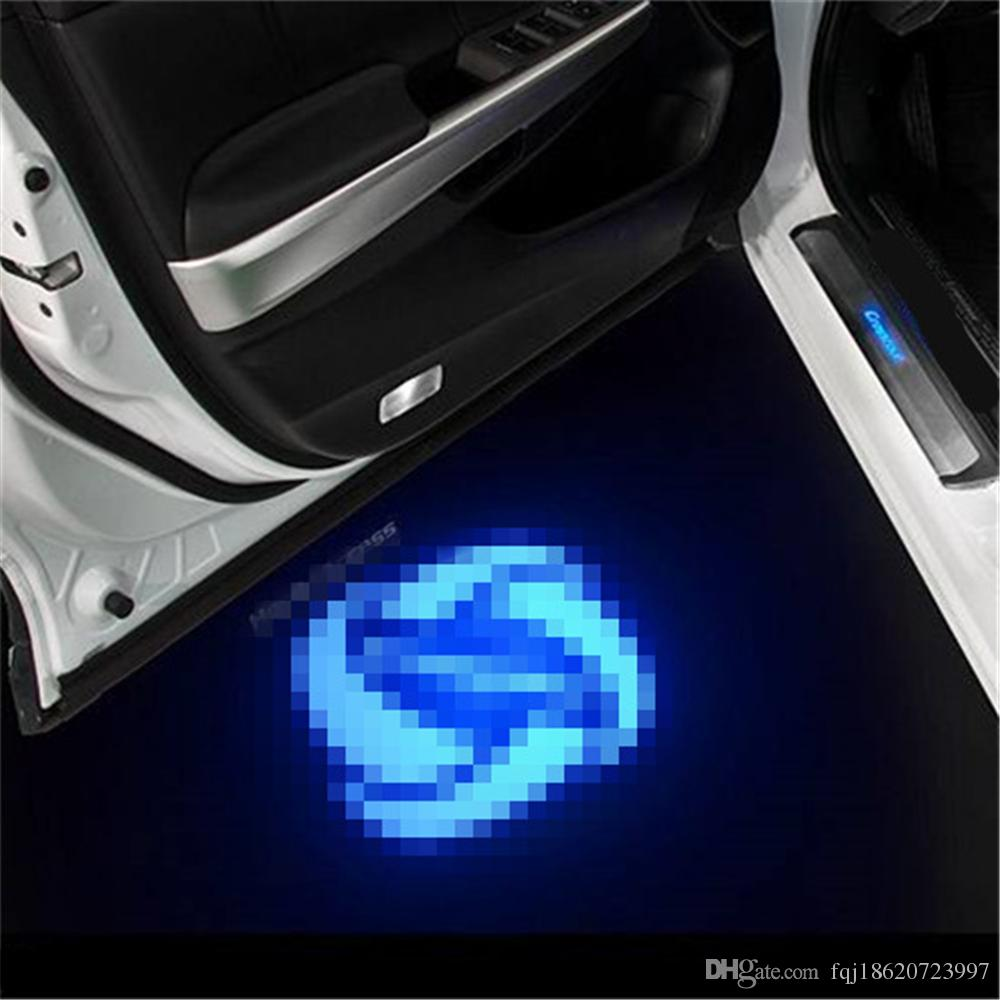 Genesis Car Logo >> Case For Ds Case For Genesis Car Logo Led Interior Lights Welcome Door Ghost Shadow Lamps 12v