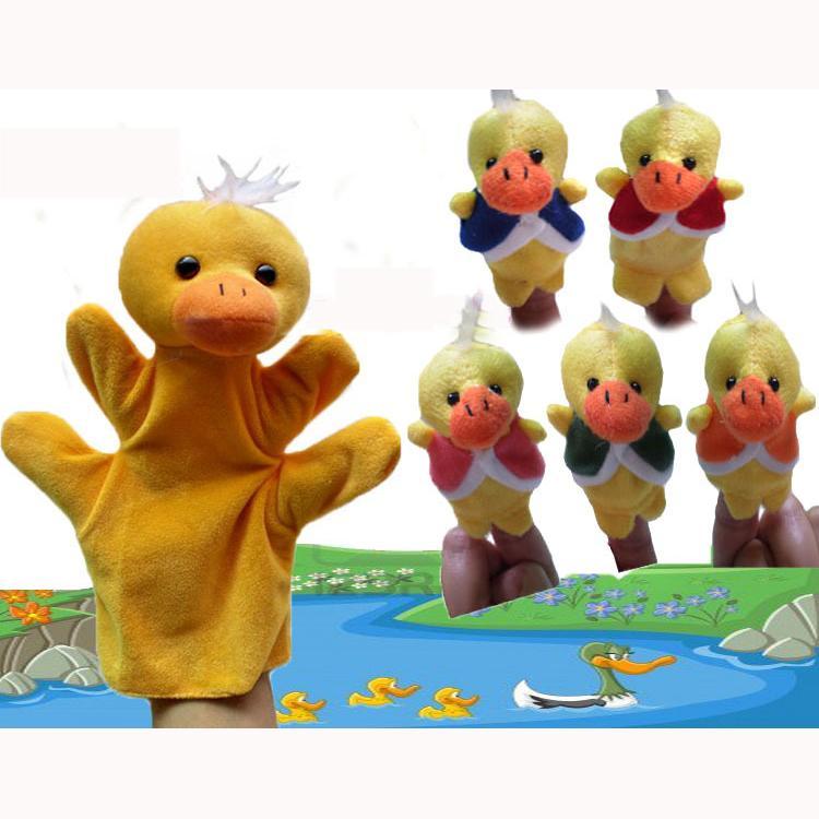World Nursery Rhyme Five Little Ducks Plush Finger Puppets