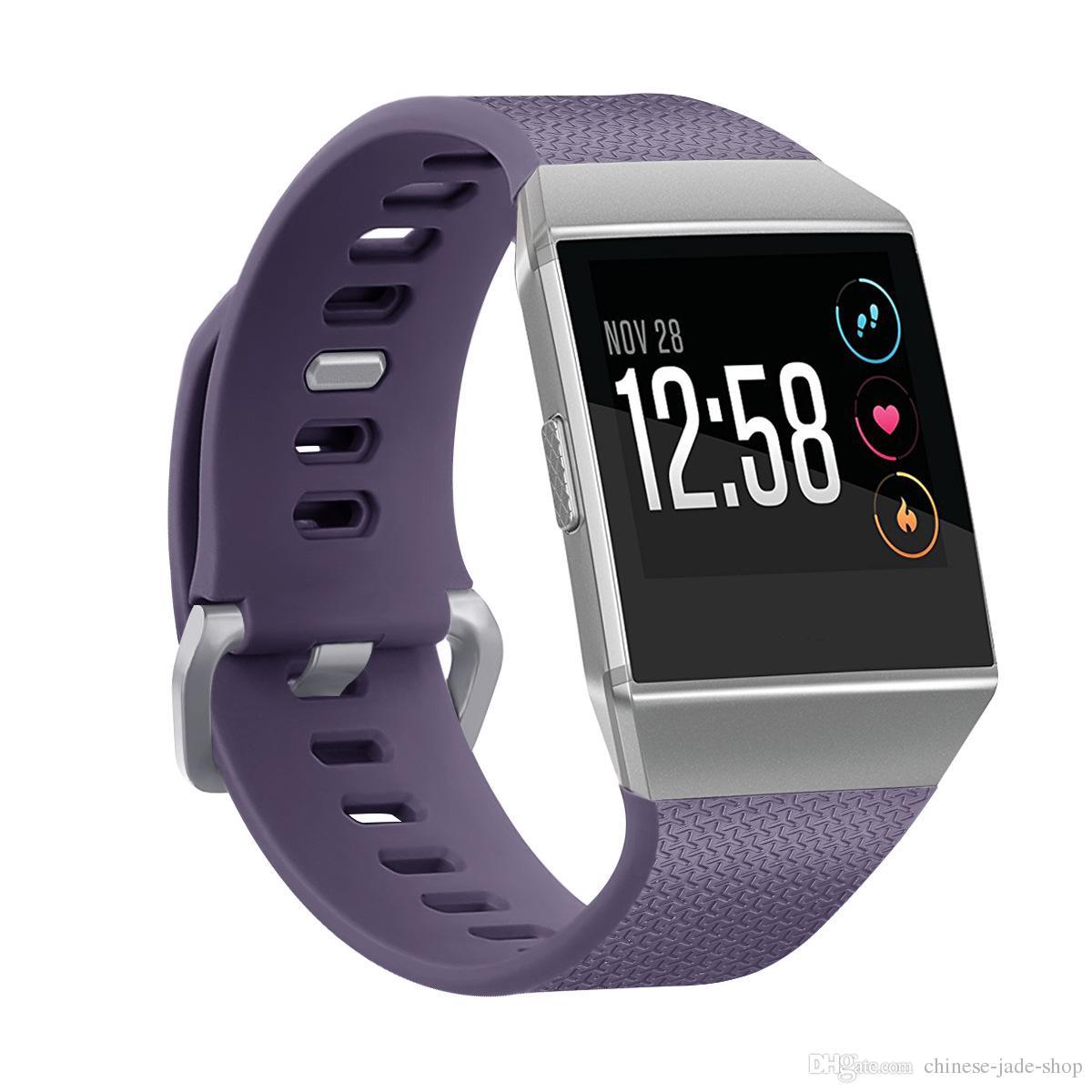 Para Fitbit pulseiras de silicone de pulso Wearable TPE Band Band Watch clássico bandas de substituição / L