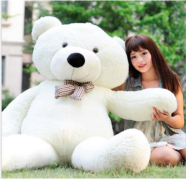 79f3d615af6 2019 2016 Hot White TOYS 6 FEET BIG TEDDY BEAR STUFFED GIANT JUMBO 72  Size 180cm Embrace Bear Doll Lovers Christmas  Birthday From  Tescosupermarket