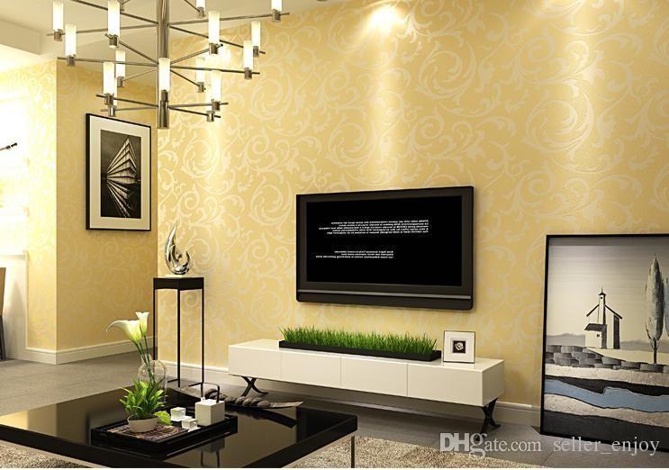 3d europeu papel de parede sala de estar à prova d 'água, sofá do quarto tv backgroumd de rolo de papel de parede cor prata adesivo de parede