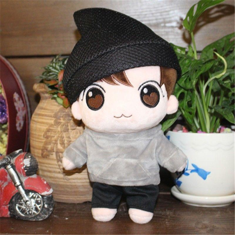 KPOP BTS Idol Bangtan Boys Jeon JungKook Characters Plush Toy Fans-made  Stuffed Doll Craft Gift Collection