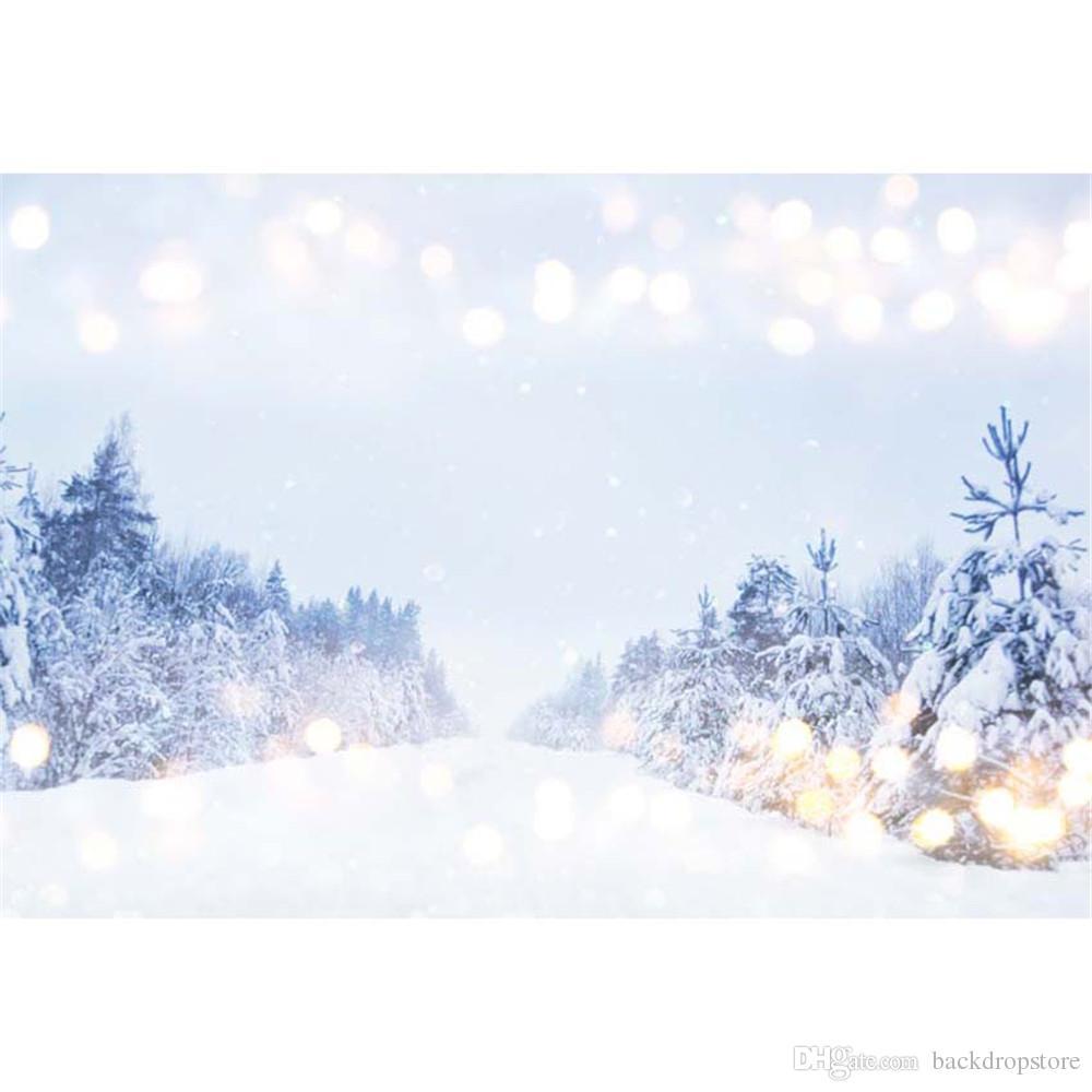 2018 Merry Christmas Snowflake Photo Background Bokeh Polka Dots ...