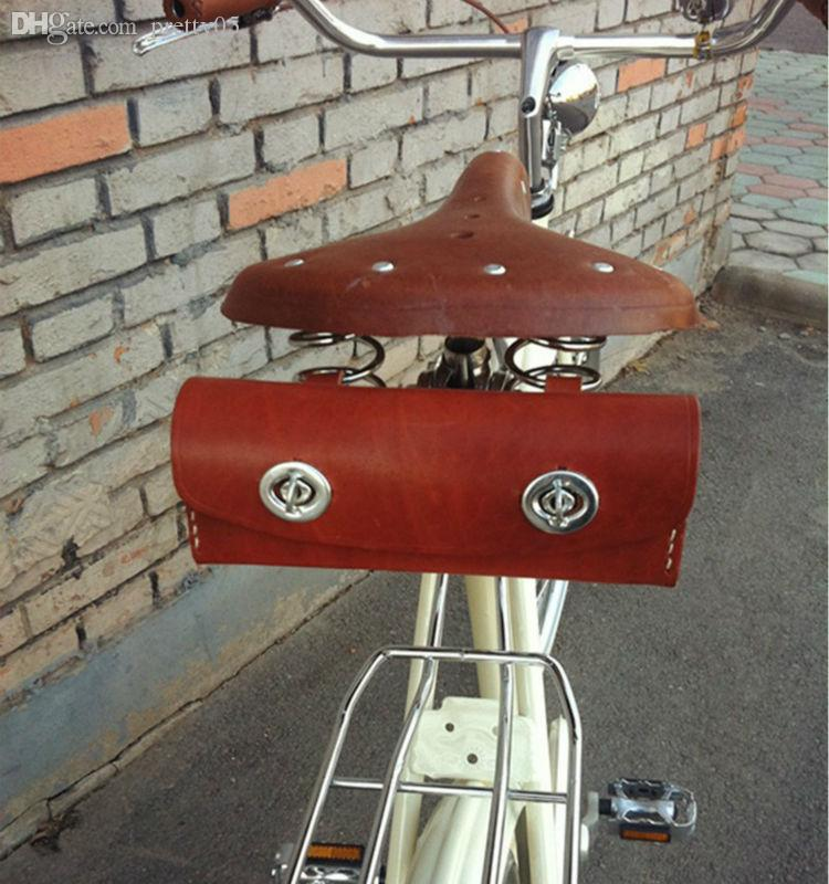 0b6fd8ea50b 2019 Wholesale 100% Cowhide Leather Vintage Bicycle Saddle Bag Bike Tail  Bag Cycling Tail Seat Bag Handmake Saddle Tools Leather Packet Brooks From  Pretty05 ...