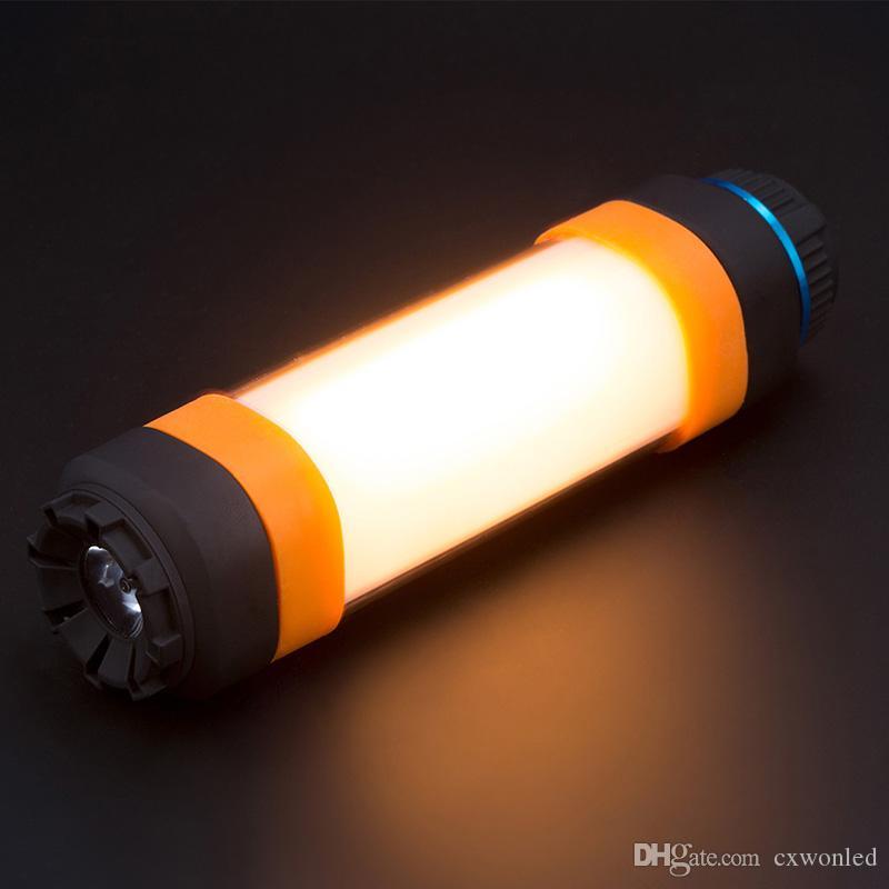 Tienda impermeable Iluminación LED Linterna camping con 5200mAh Banco de alimentación 3 Brillo ajustable ligero recargable de la antorcha para el aire libre