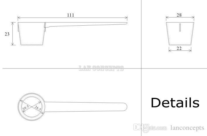 5 Gram 9 ml PP Lepel Plastic Scoop Meetinstrument voor Voedsel Medische Vloeibare Melkpoeder - 111x28x23mm / Op983