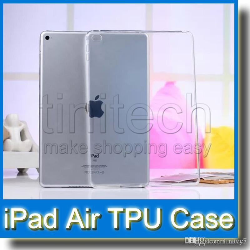 Klar transparent iPad5 Silikonkautschuk Haut TPU Gel Fällen für iPad Air Back Cover Fall für iPad Air 2 Mini 1 2 3