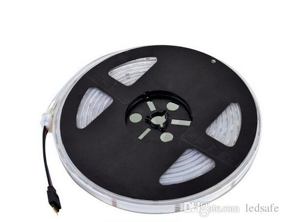 5m SMD 5050 300 LED mette a nudo luci RGB Chips impermeabile IP67 12V 72W striscia flessibile di illuminazione 24 Chiavi Telecomando 6A Alimentazione MOQ10