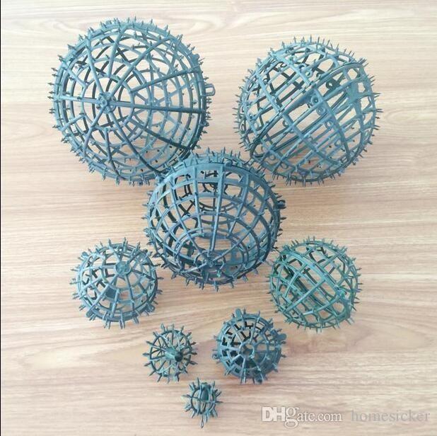 키스 공을 plactic 공 프레임 20cm의 직경, 좋은 diy 꽃 공 파티 장식 무료 배송