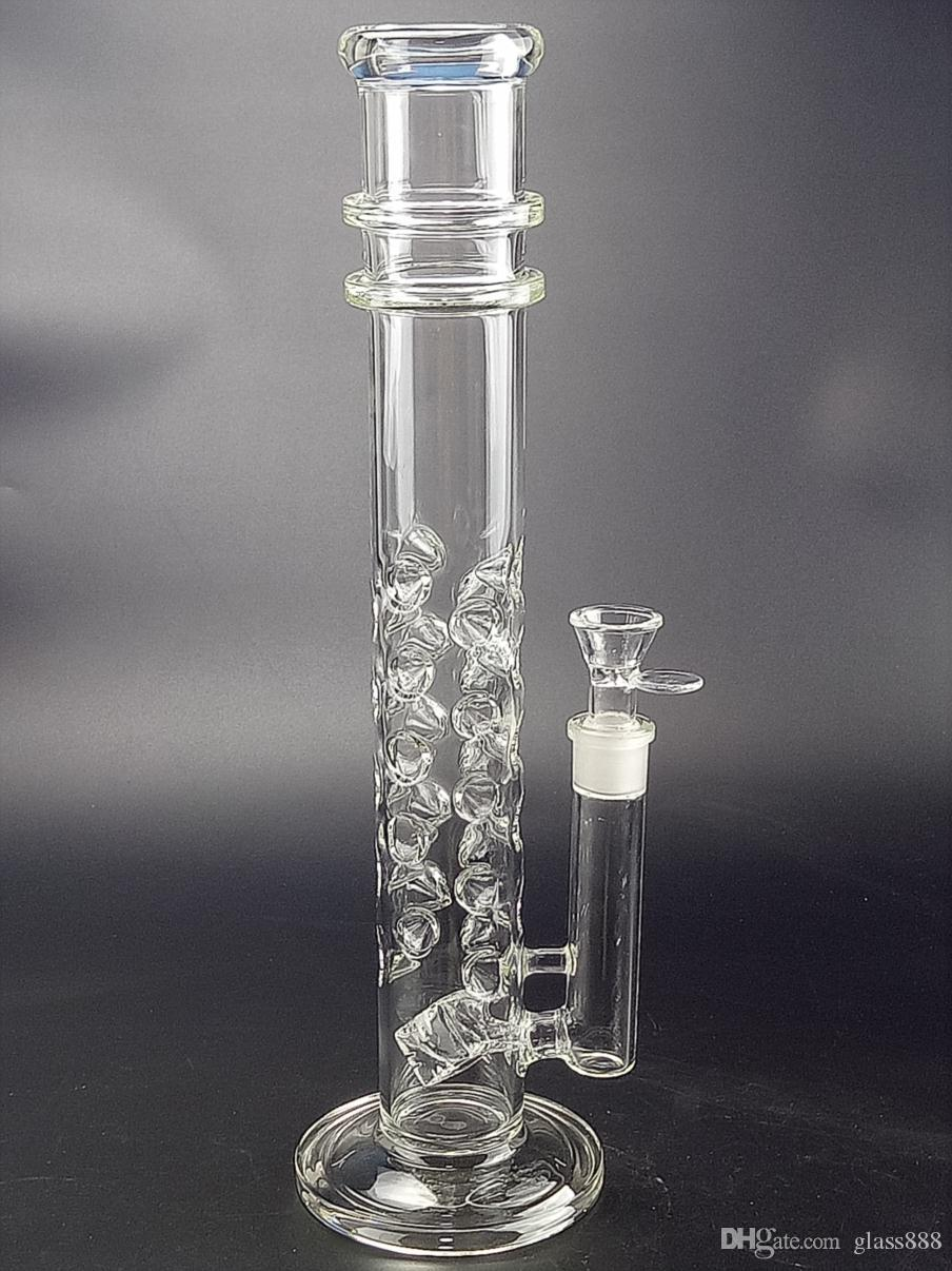 """Dab Rig Water Pipe Bongs Transparent 15.4"""" Tall 18.8mm joint glass bongs with bowl smocking hookahs GB-567"""