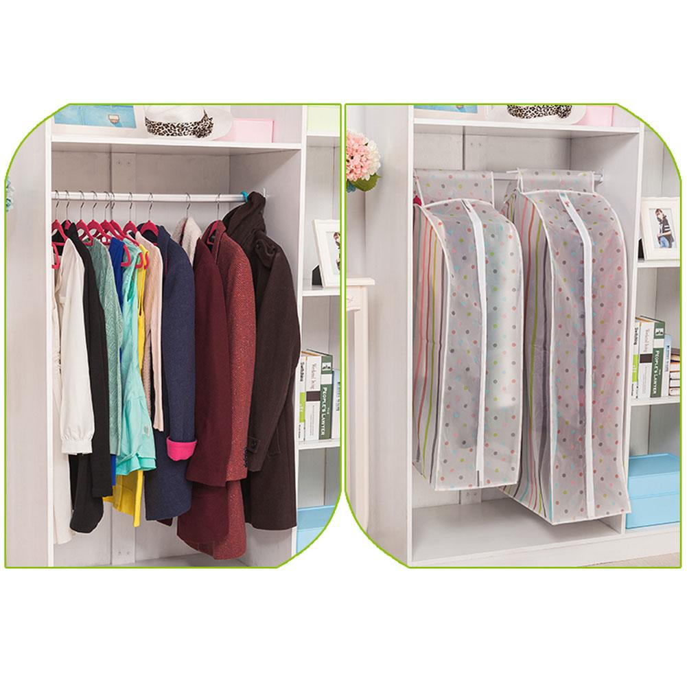 S/L Vacuum Bags for Storing Clothes Garment Suit Coat Dust Cover Protector Wardrobe Storage Bag Case for Clothes Organizador