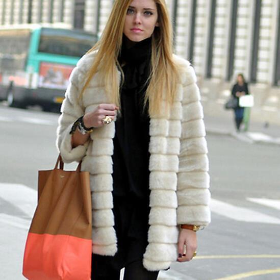 2017 Manteau Femme 2016 Women Winter Faux Fake Fur Coats Warm Plus ...