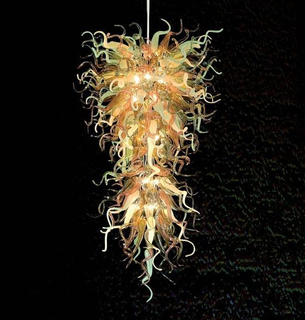 펜던트 램프 100 % 입 블로운 붕 규산염 무라노 유리 아트 샹들리에 펜던트 빛 실내 조명 교수형 골동품 가구