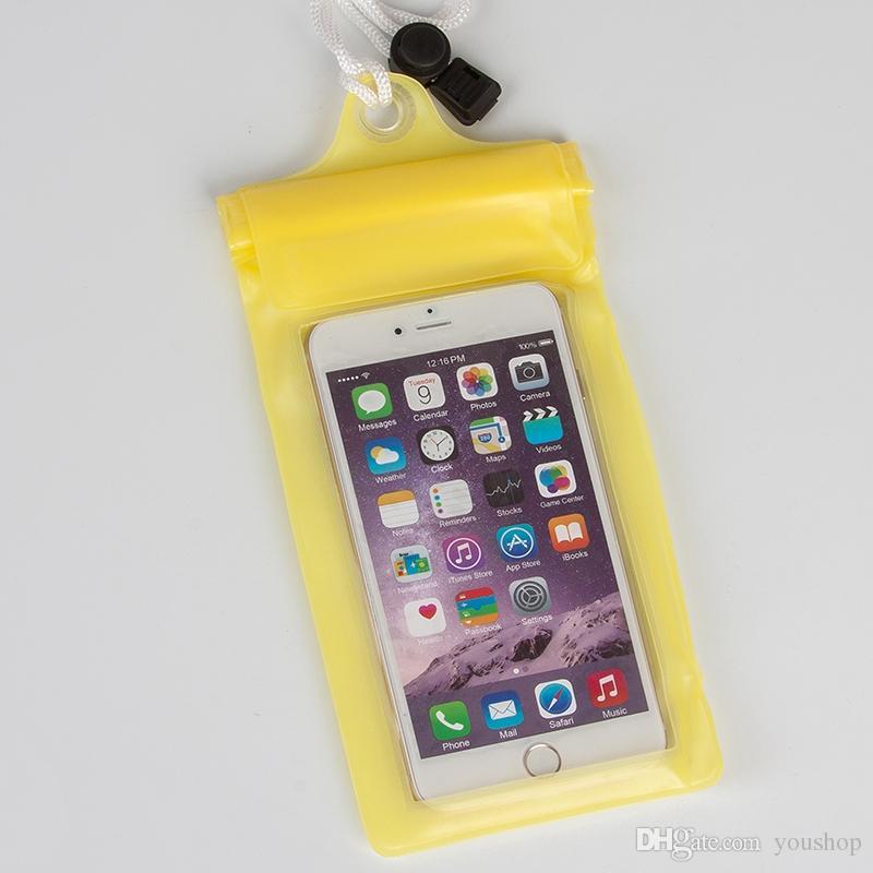 유니버설 수영 방수 케이스 커버 가방 iphone 6 6S 6S 플러스 삼성 소니 Xperia Z 6 인치 휴대 전화에 대 한