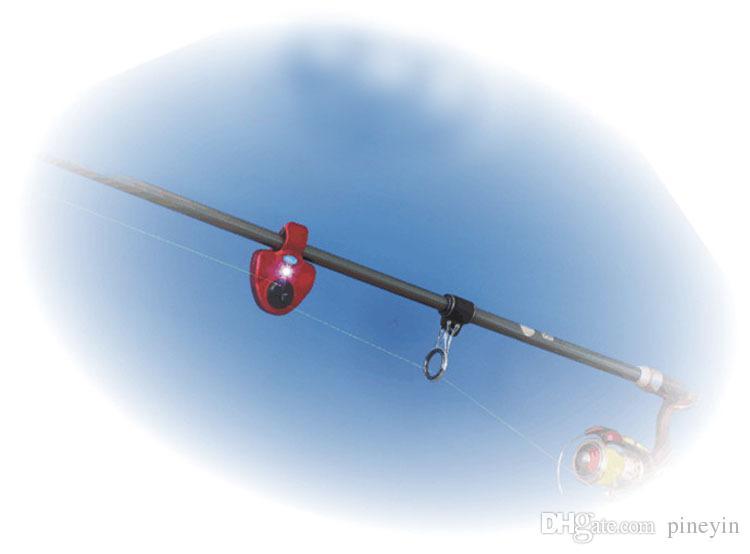 Fishing bite alarm Outdoor LED Clip Light Fishing Rod Electronic Bite Alarm Fish Ringer Battery
