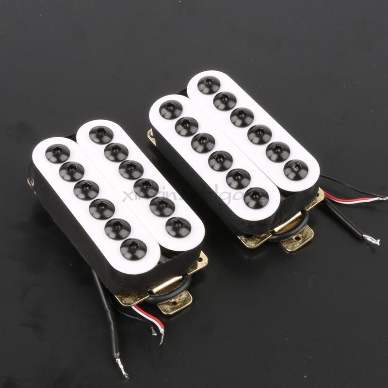 Set of Ceramic Magnet Invader Style Guitar Humbucker Pickup Bridge ...