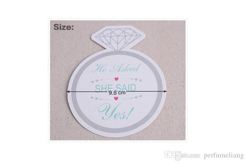 Fashionable Style Diamond Ring Design 9.8cm Paper Coasters Set of 12 Bridal Shower Favors Wedding Decoration ZA5523