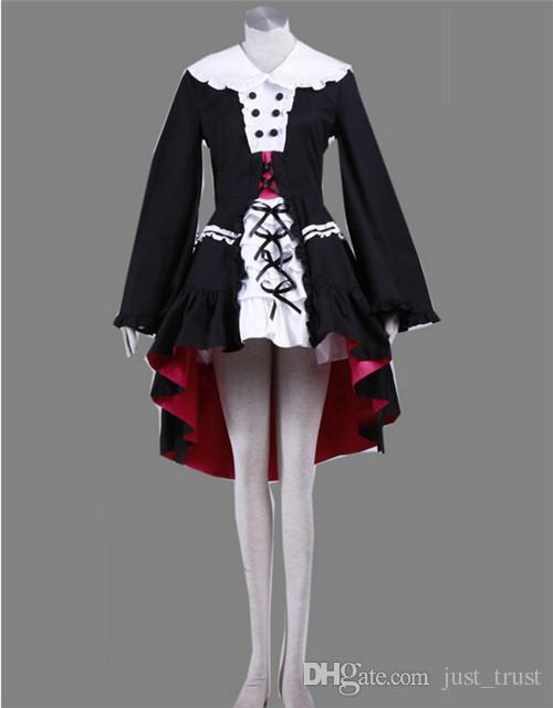 2016 giapponese costumi anime Yuki Nagato LOLITA Cosplay ragazza scuola vestito con chiusura a chiave di Halloween Costumi adulti