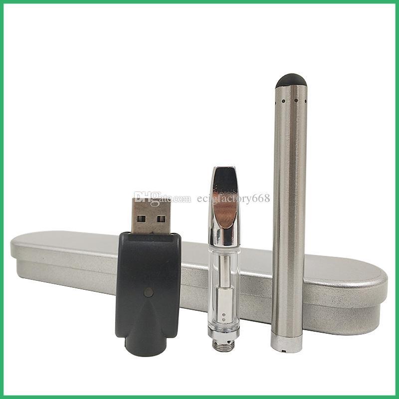 Cartuchos de vidro BUD caixa de bateria de toque kit cartuchos de caneta vaporizador vape espessa vaporizador de óleo cera vape mod CE3 atomizador e kits cig