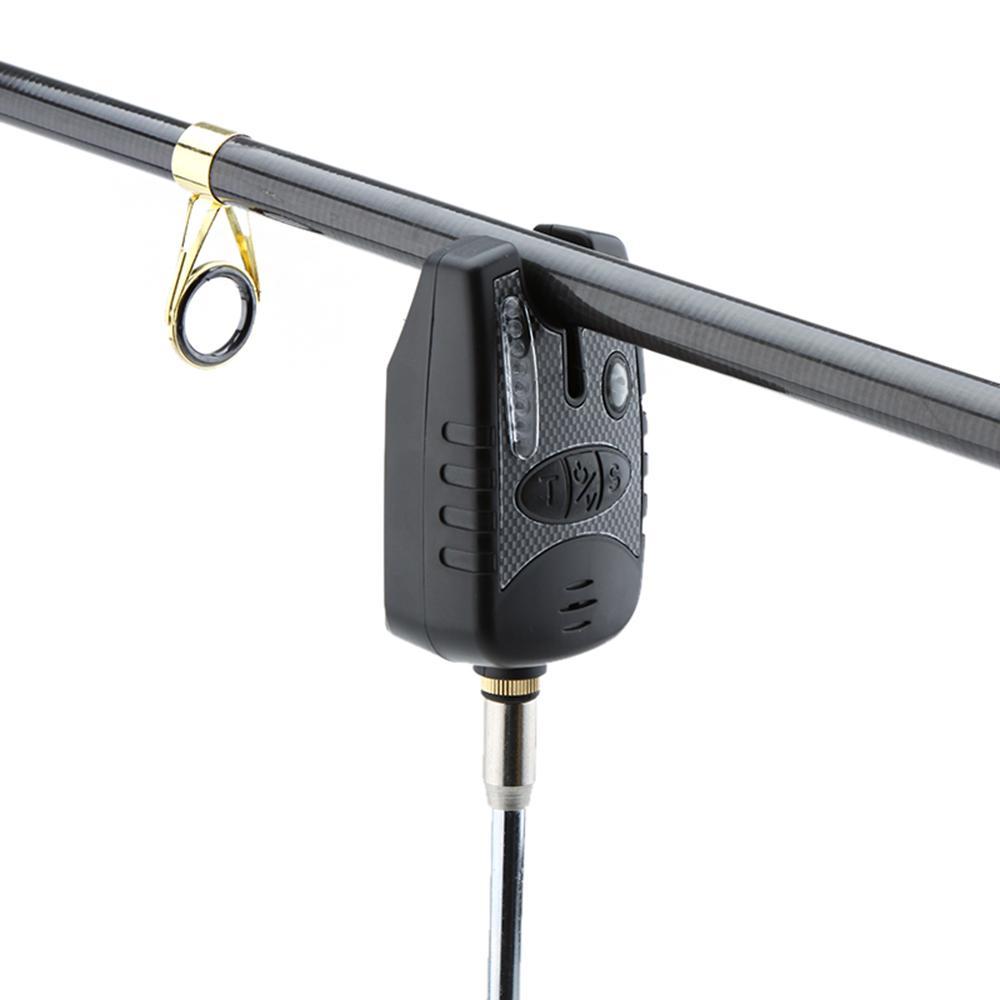 Resistente all'acqua 8 LED Allarme pesca Tono regolabile Sensibilità volume Allarme acustico Allarme morso la pesca