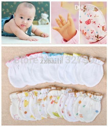 320bf0135 Wholesale-Soft Cotton Newborn Gloves Baby Infant Anti Scratch ...
