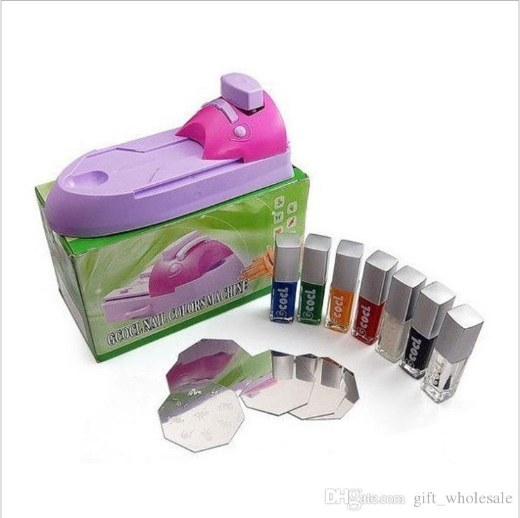 Nail Art imprimante DIY Motif Impression Manucure Machine Timbre Plaque Stamper Dessin Polonais Kit ensemble
