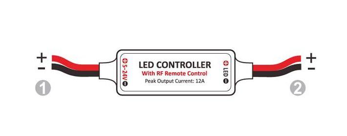 RGB Light strips LED Single Colorfull Mini RF LED Remote Controller Wireless Dimmer for 3528 5050 5630 strips light 144W