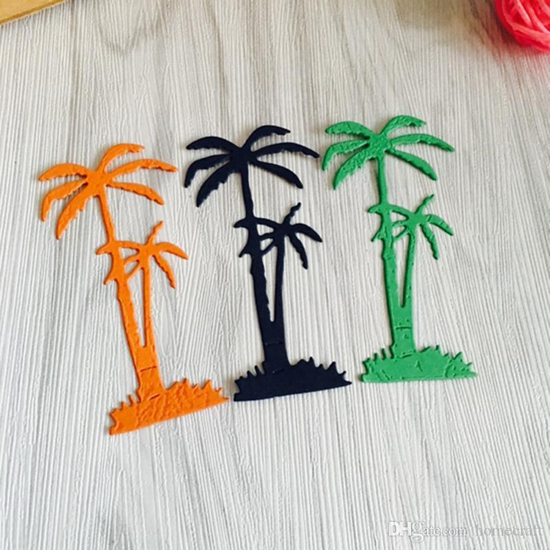 Strand Palm Metall Stanzformen Schablone für DIY Scrapbooking Fotoalbum Papier Karte Schaffung Geschenk Dekoration Ordner