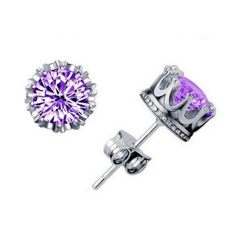 925 silver earrings natural crystal wholesale fashion small sterling silver jewelry for women stud men or women earings