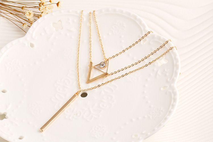 Pretty Gargantilla Collier Collares Boho Perlas Cadena de diamantes Collares de múltiples capas para Mujeres Hombres Bar Capas Borla Collar de cadena de metal de oro