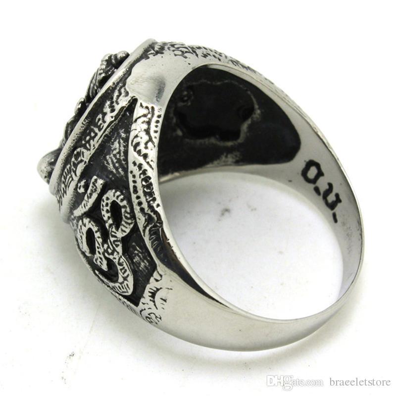 2 sztuk Szybka Wysyłka Gorące Sprzedawanie Pierścień Ganesh 316L Ze Stali Nierdzewnej Biżuteria Fajny Rowerzysta Lotus Ganesh Ring