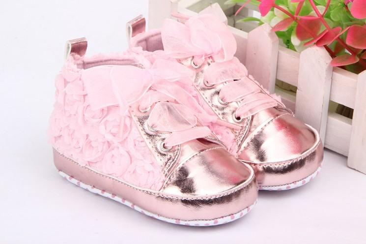 5a2d72ff5 2019 Baby Shoes Soft Baby Kids Toddler Sapato Infant Rose Flower Soft Sole Girl  Shoes Baby First Walker From Amybabyclothes