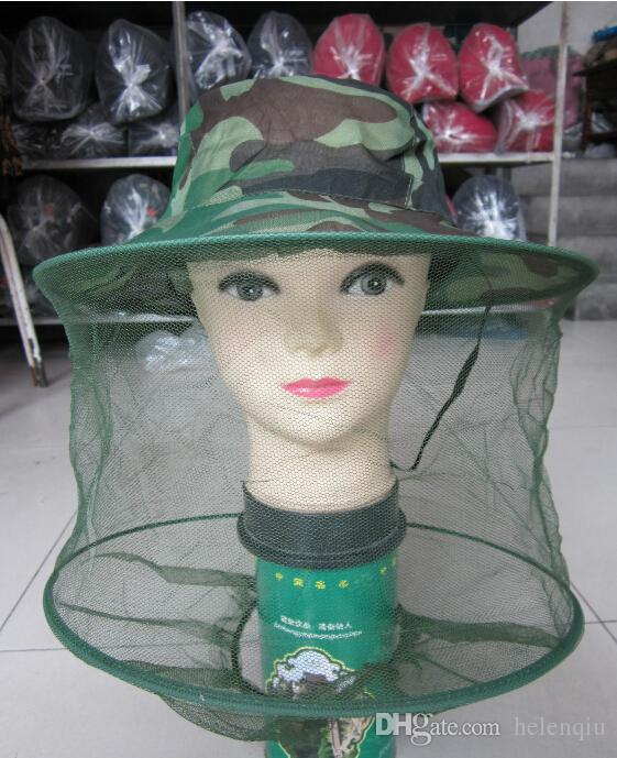 Beekeeping hat outdoor camouflage shawl cap wild mosquitoes bees cap The jungle cap Fishing prevented bask hat