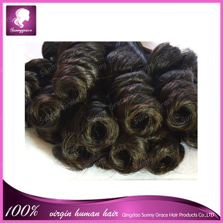 Double Drawn Nigerian Aunty Funmi Hair Extension Unprocessed Peruvian Spiral Curls Human hair Bouncy Curls Hair weaving