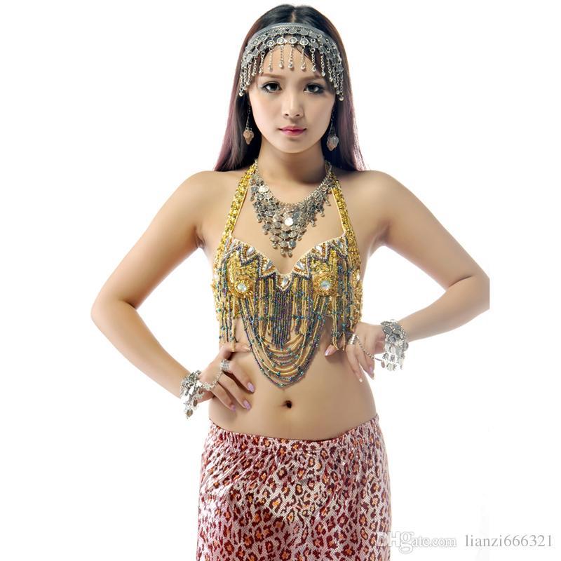 Belly Dance Headpiece Halsband Armband Örhängen Kostym Smycken Bollywood Dancing Props Belly Dance Smycken Ställer gratis frakt