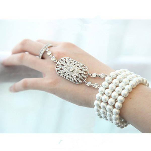 Rhinestone Crystal Bridal Jewel The Great Gatsby Bracelet Ladies ...