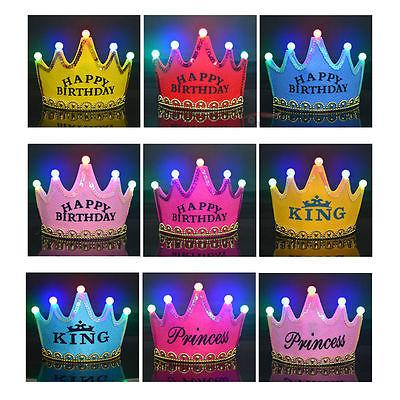 Cute Boys Girls Baby Kids Princess King LED Crown Happy Birthday Party Hats Cap Fancy NEW Supplies Online With 2891 Piece On Bigbangsls Store