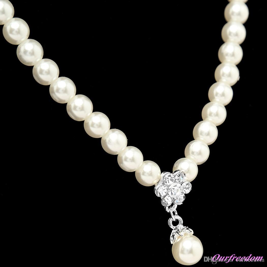 Op voorraad 15097 ivoor sieraden sets met oorbel elegante formele prom avondfeest dragen bruids sieraden Nieuwe collectie 100% echt beeld