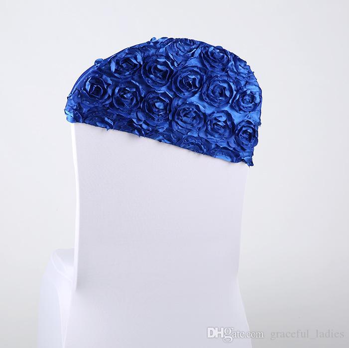 Kırmızı 3D Gül Çiçek Düğün Sandalyesi Ucuz Düğün Malzemeleri Masa Örtüsü Kapakları Fabrika Sandalye Kapak Sashes Toptan Asimetri