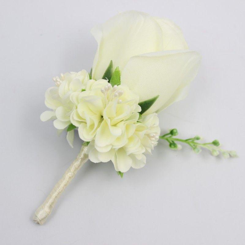 Grosshandel Grosshandels Elfenbein Weisse Gelbe Blaue Hochzeits Blumen
