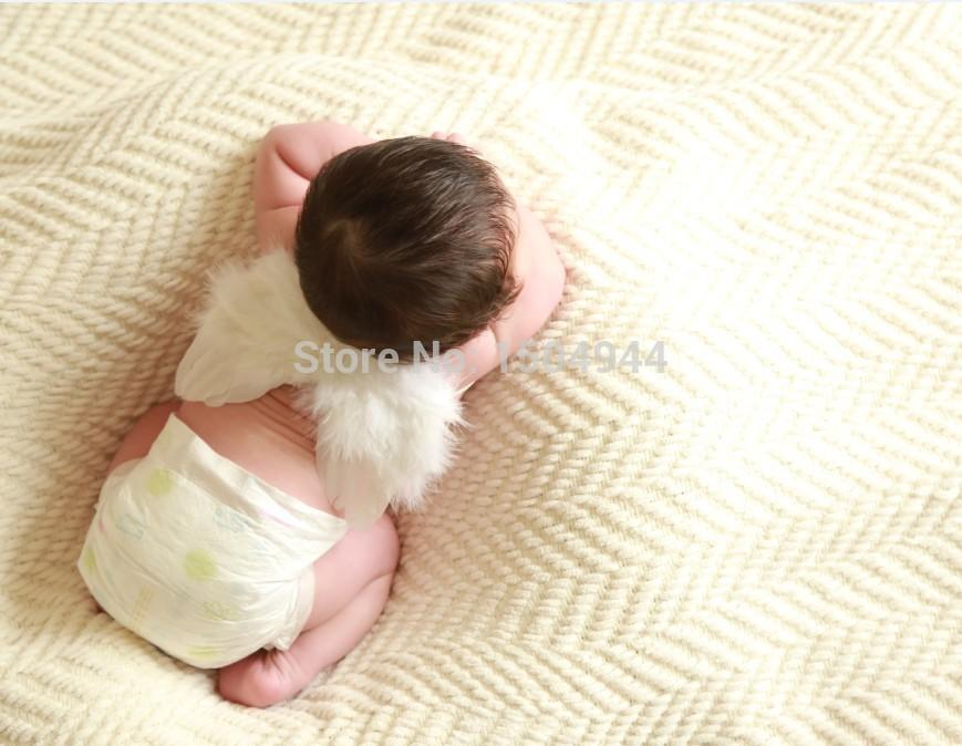 0 6 Month BabyHandcraft Mini Feather Wings Newborn Size Angel Birthday Gift Baby Shower Photography Props The