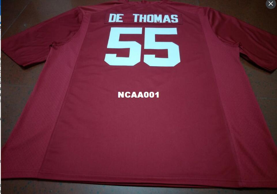 online retailer f14b2 dd339 Men #55 derrick thomas Alabama Crimson Tide SIZE S-4XL red black white  College Jersey or custom any name or number jersey