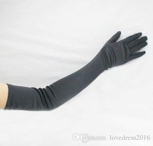 Hot Sale 2018 Simple Above Elbow Length Long Bridal Gloves Full Finger Wholesale Party Banquet Women Gloves