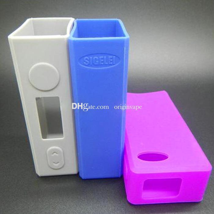 Sigelei 75 w caso capa de silicone pele tampa do caso para sigelei 75 w caixa mod multi cores avialable dhl frete grátis