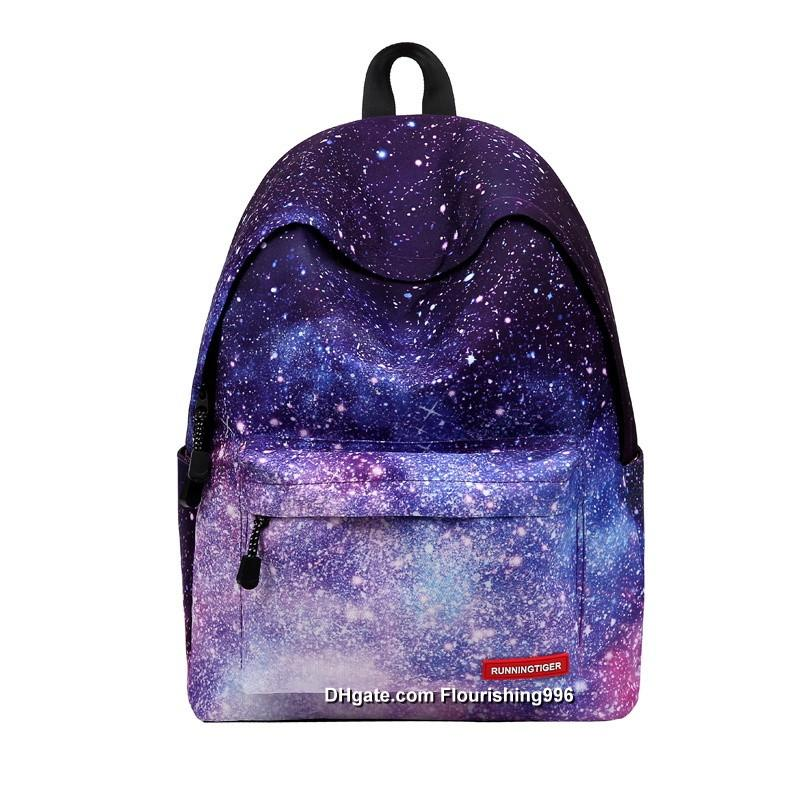 Lowest Price ! Women Backpack Teenage Girls School Backpack Bag Stars Universe Space Printing Canvas Female Backpacks for College Students