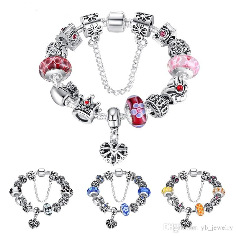 Jewelry & Watches Pandora 18 Charm Silver Genuine To Have A Unique National Style
