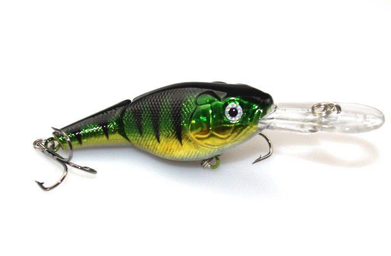 2 segments bleeding Bionic fishing lure 9cm 10.6g Trolling dive baitfish crank wobbler bait