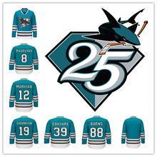 huge discount 941e8 158c3 san jose sharks 25th anniversary jersey